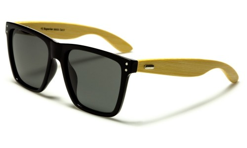 Wood like frames and real bamboo sunglasses