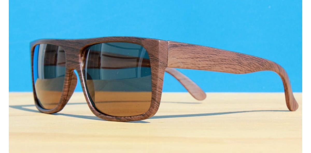 Mens Sunglasses, Flat Top Wood
