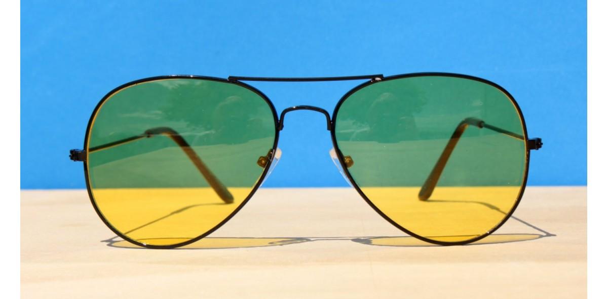 Mens Sunglasses, Night driving Aviators-Black