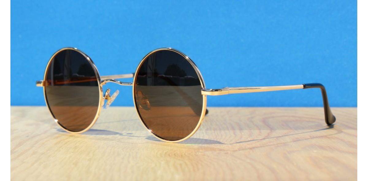 Polarised Round Sunglasses, Stylus1