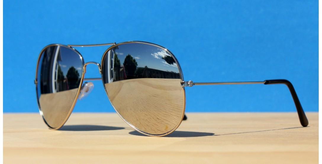 Mirror Sunglasses, Silver Shadow Aviator