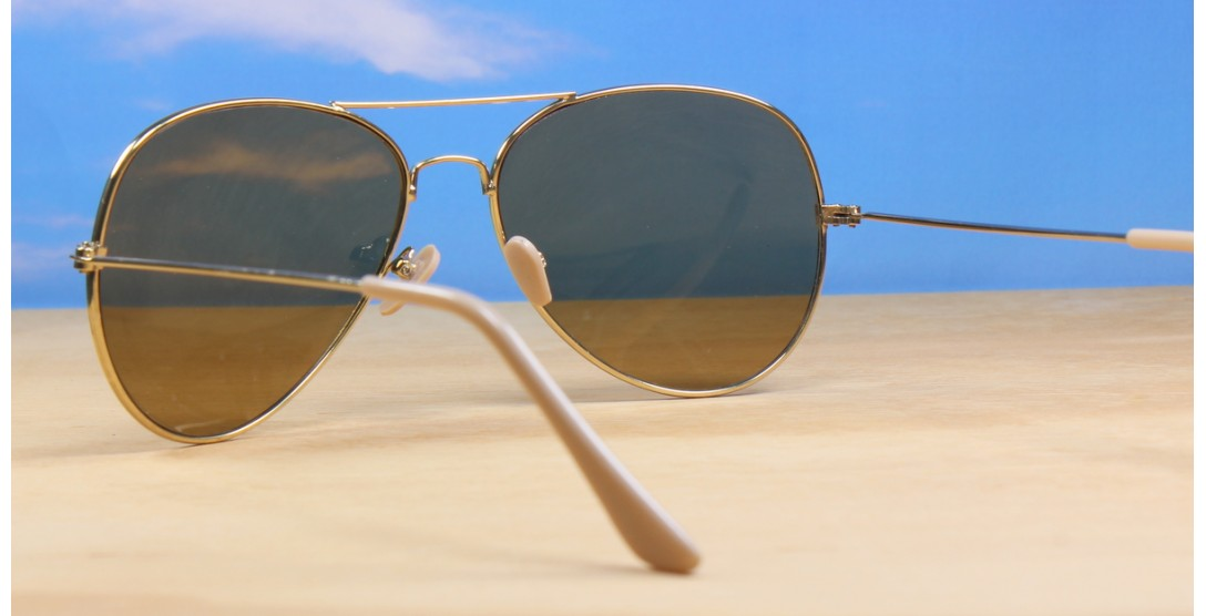 All Sunglasses, Gold Brown Aviator