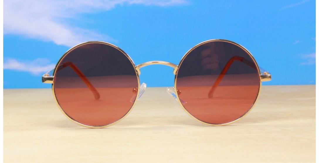 Round Sunglasses, Tungsten